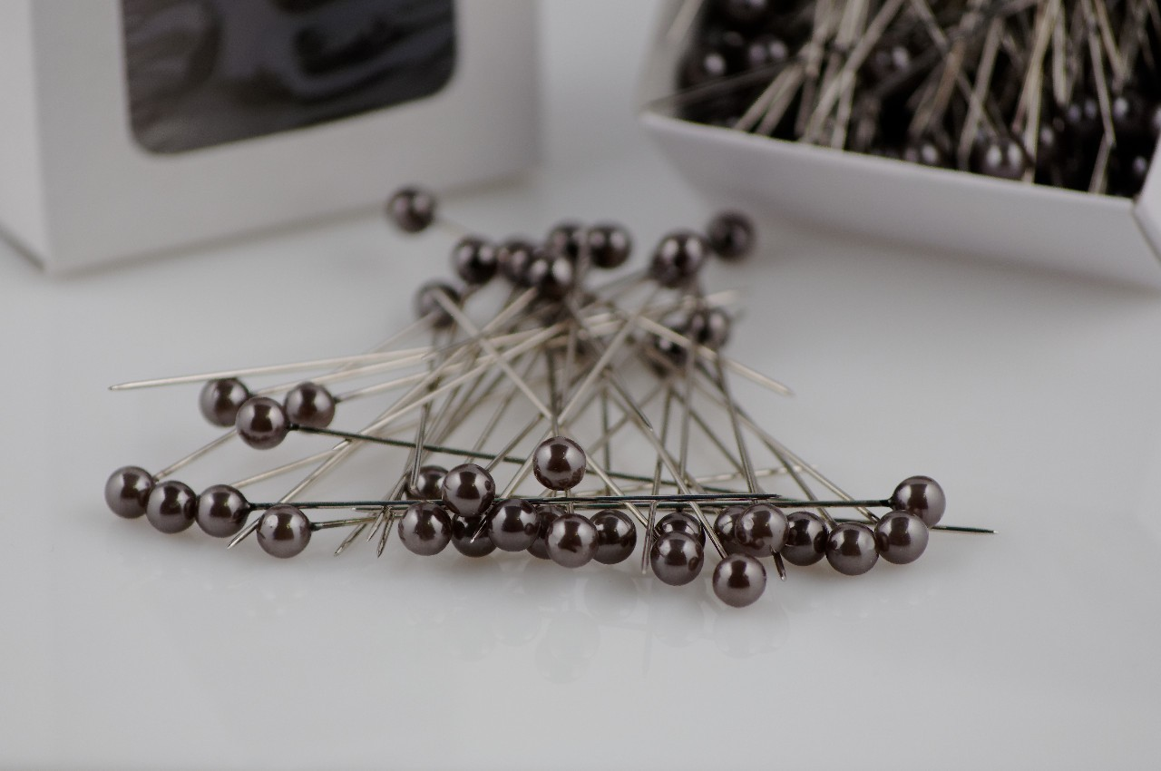 Ace cu perle Oasis culoare argintie inchisa 144 buc in cutie