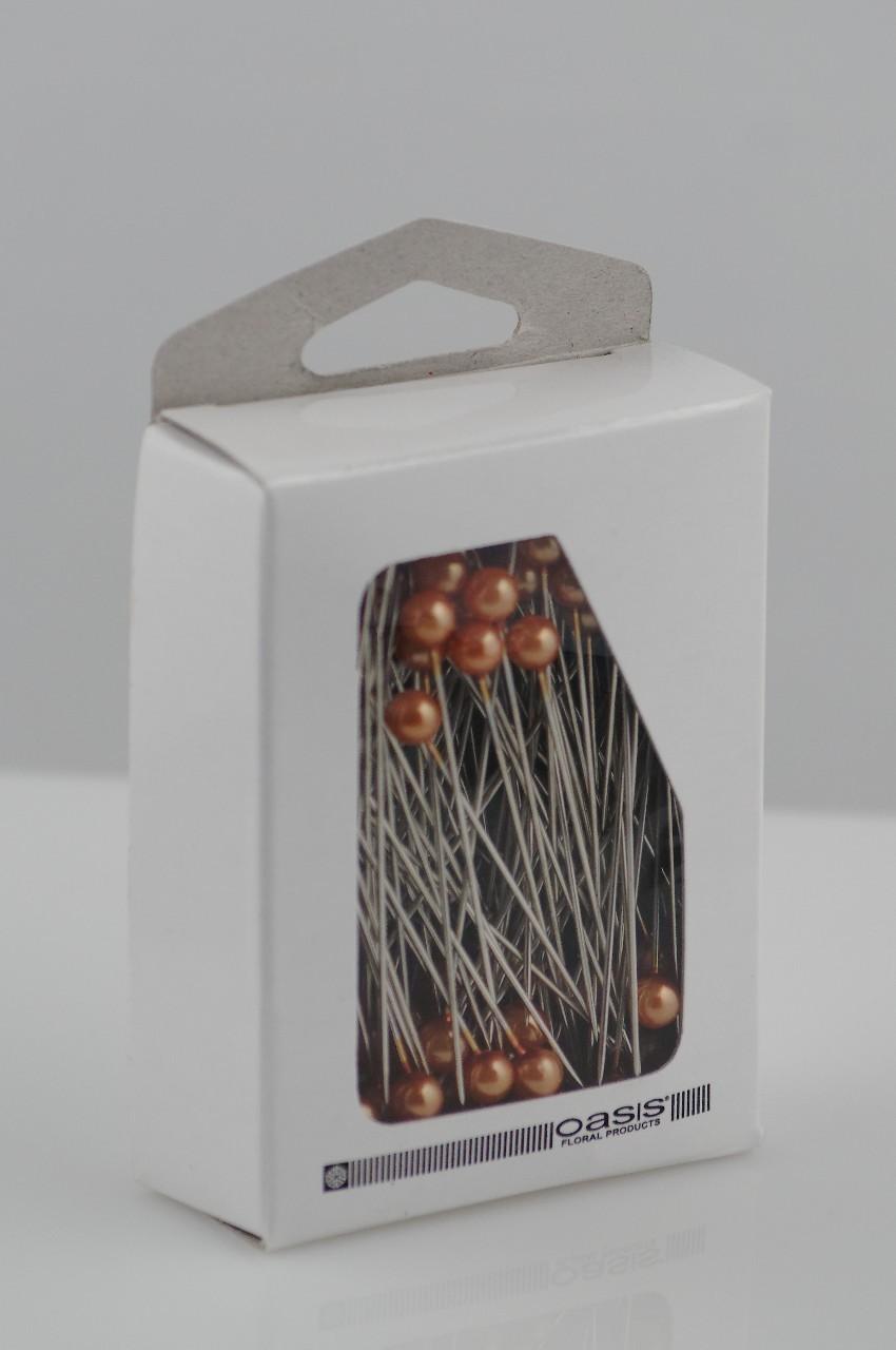 Ace cu perle Oasis culoare aurie 144 buc in cutie