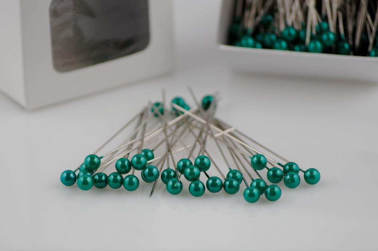 Ace cu perle Oasis culoare verde inchis 144 buc in cutie