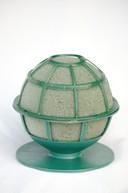 sfera gri(uscata)cu suport 12cm diametru