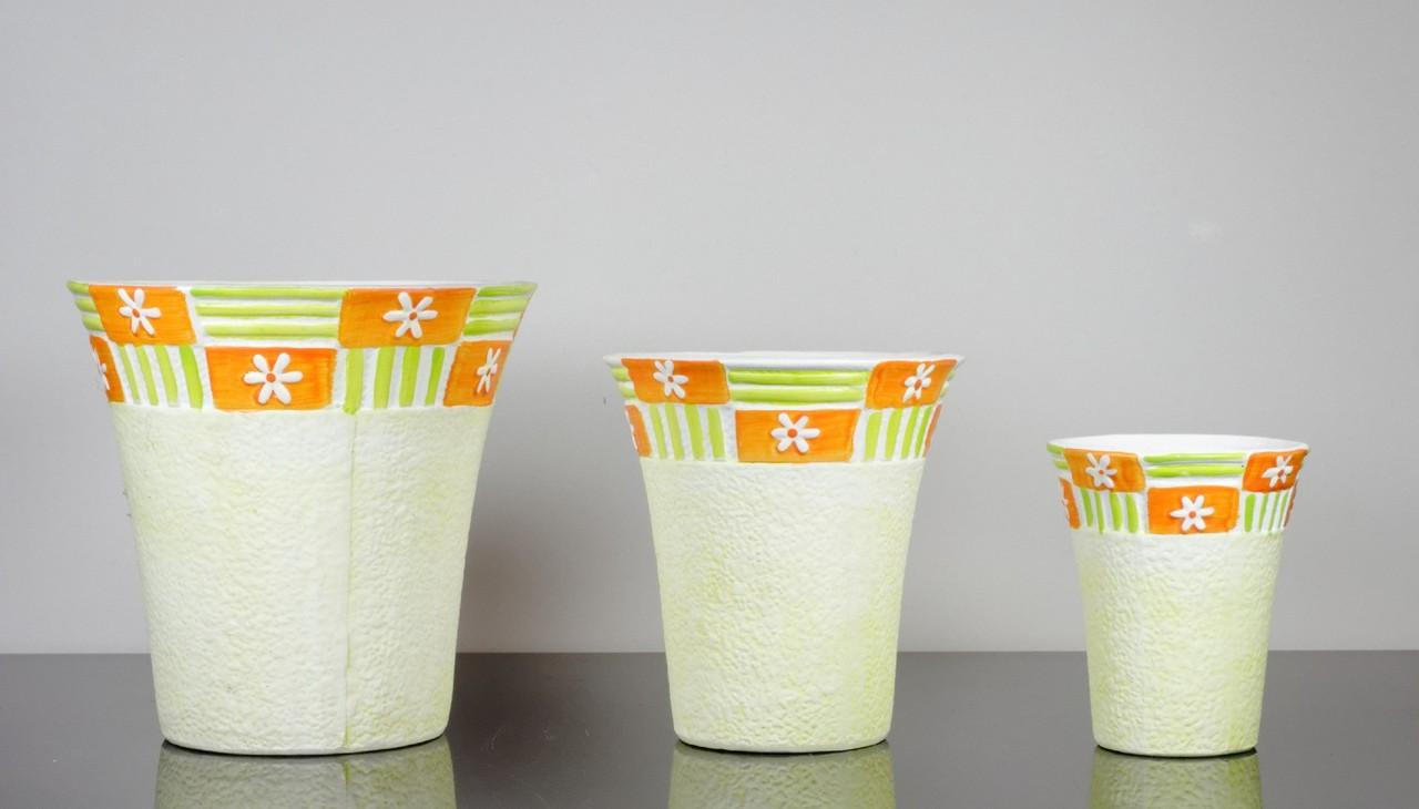 Set 3 vase circulare