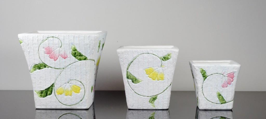 Set 3 vase dreptunghiulare