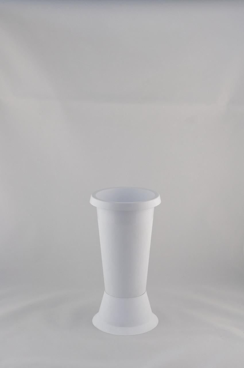 Vaza mica din plastic culoare alba