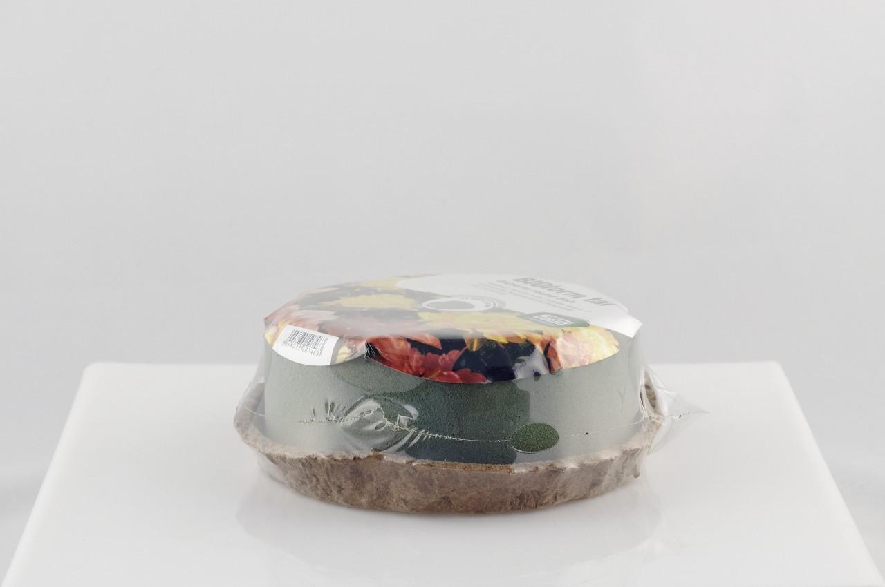 Tavita BIOform circulara cu burete floral umed pe suport ecologic