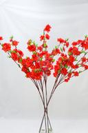 Set 5 tije flori de cires culoare rosie - 100 cm
