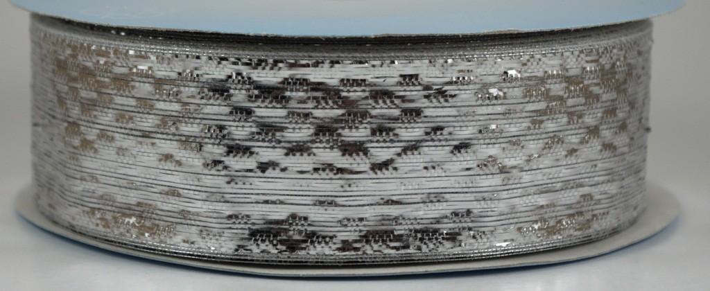 Panglica metalizata, latime 4 cm - P0073