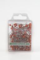 Ace cu perle Oasis culoare portocalie 144 bucati in cutie