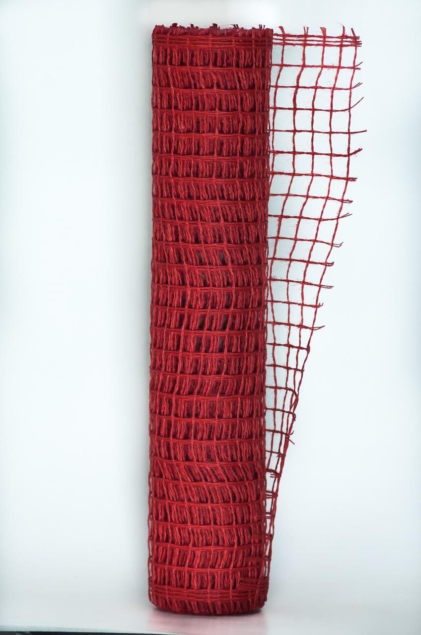 Sul plasa decorativa culoare rosie 50 cm