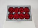 Cutie 8 capete trandafiri criogenati rosii